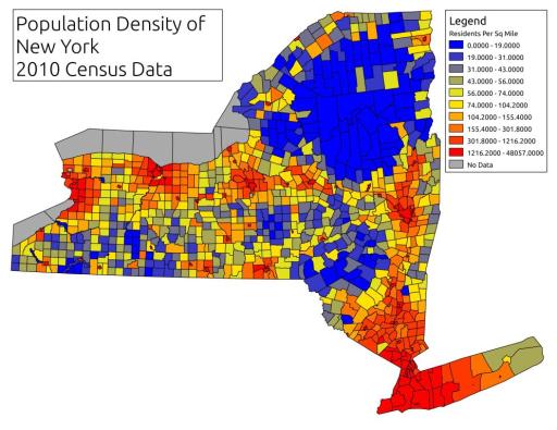 Environmentalists - NY population map