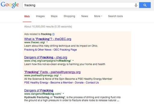 NGOs - Example Re: Fracking