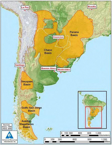 shale gas -south-america
