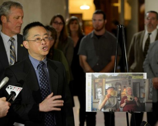 Walter Hang in Albany Fighting Fracking