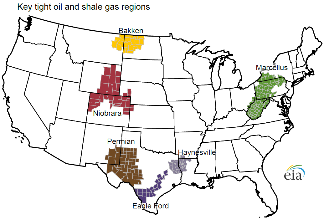 Gas Drilling Efficiency Driving Shale Revolution Natural Gas - Us shale plays map eia