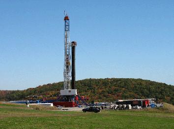Bradford County Farms - gas well