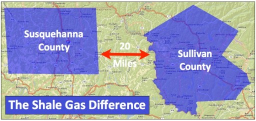 Shale Gas Difference - map