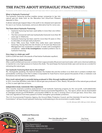 Natural Gas Fact Sheets - Facts-about-HFracturing