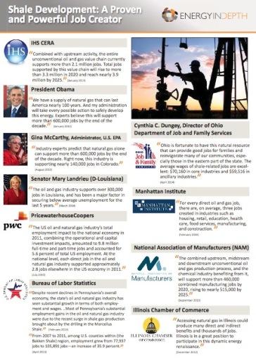 fact sheets jobs