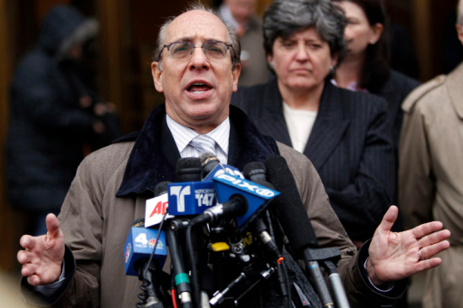Lawyer Marc Bern speaks to the media following an appearance in Federal Court to discuss a recent settlement from the City of New York for those who suffered health problems after the September 11 attacks in 2001 in New York