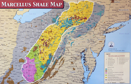fracking marcellusShaleMap