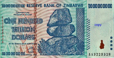 Zimbabwe One Hundred Trillion Dollars Natural Gas
