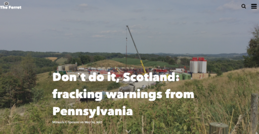 Scotland Fracking Warning