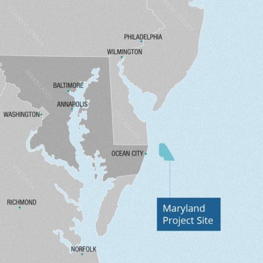 Maryland Wind Farm Location