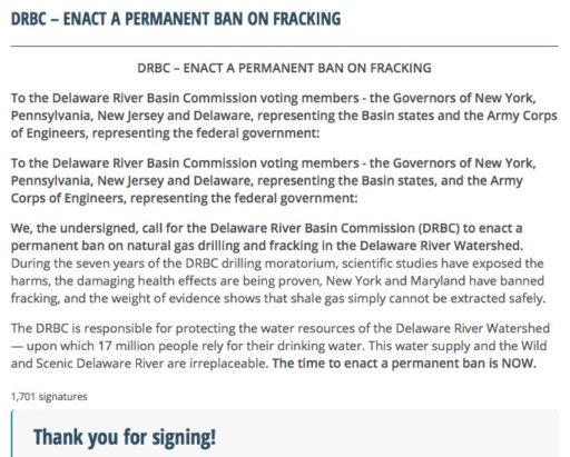 Delaware River fractivists