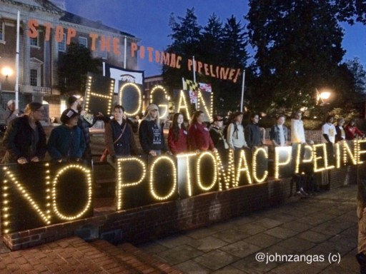 Potomac Pipeline Protesters in Annapolis