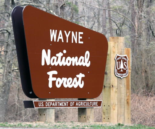 Wayne National Forest Welcome Entrance Sign 512x426