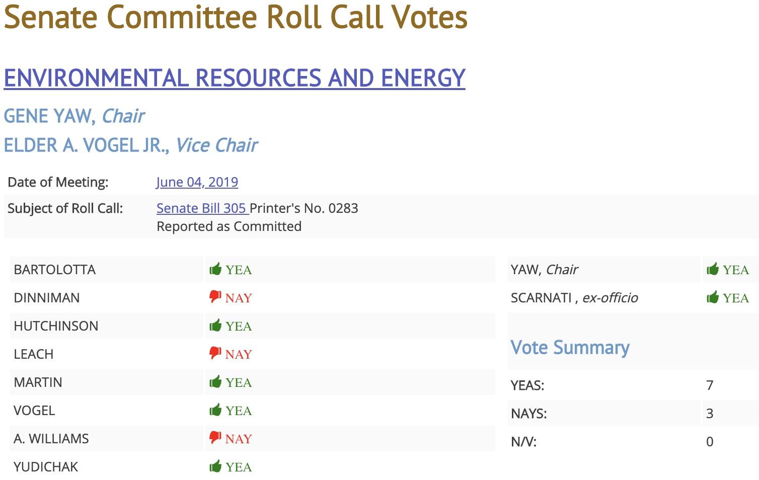 Senator Baker's eminent domain bill