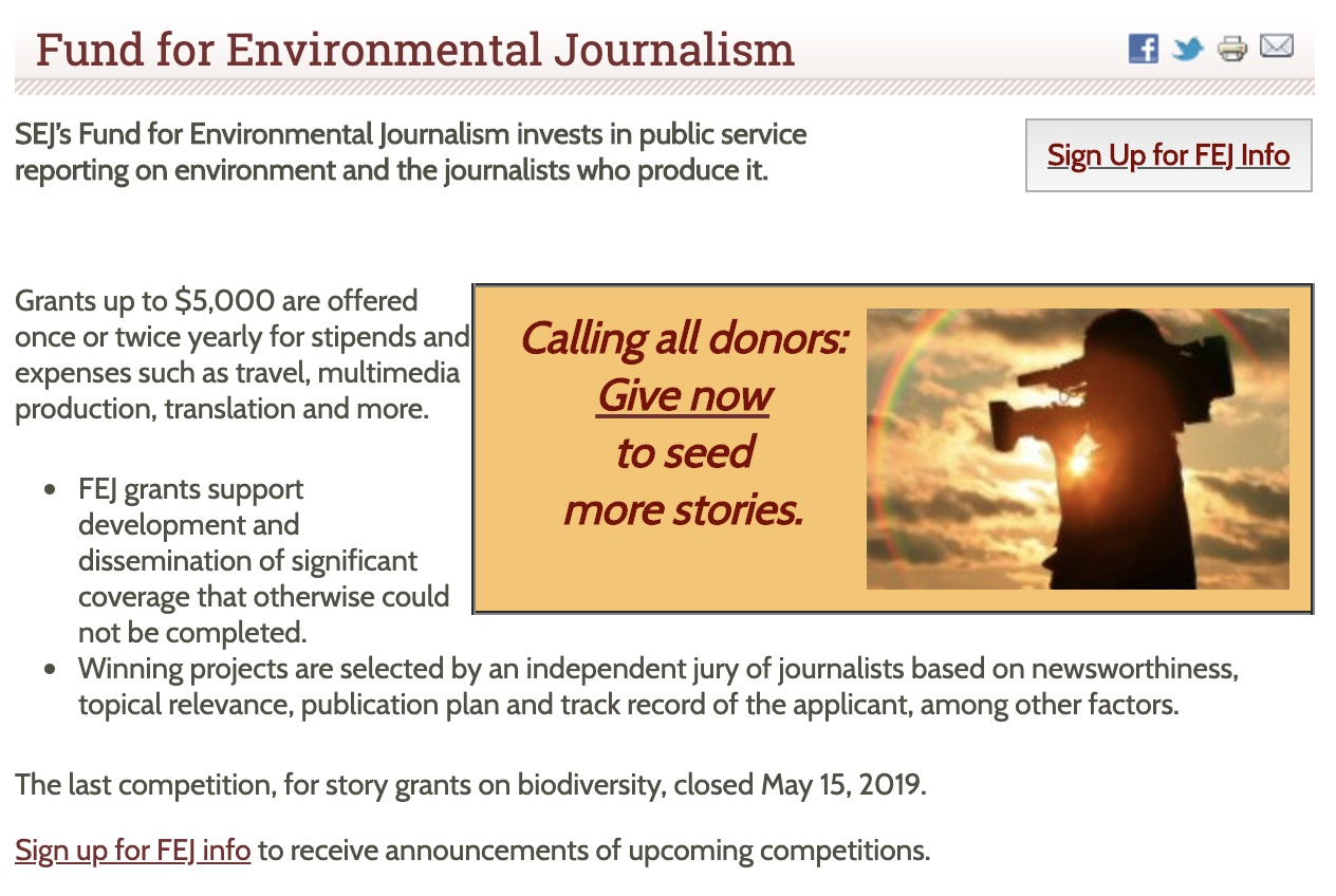 Environmental Journalists